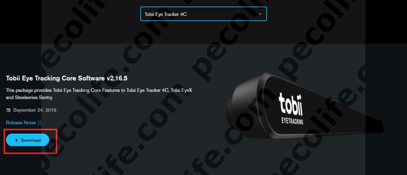 Tobii Eye Tracker 4Cセットアップ手順2